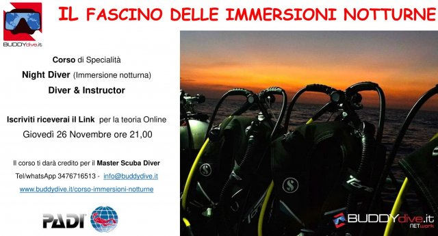 Webinar Night Diver BUDDYdive Lucca